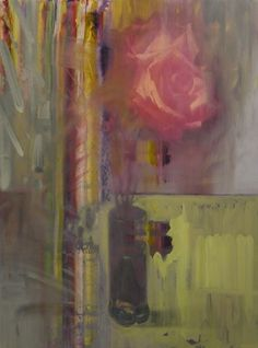 """Rose Study (2014) 17"""" x 23"""" Oil on board Signed by the artist"""
