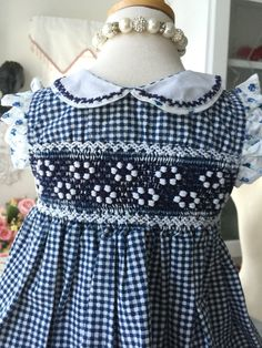 A personal favorite from my Etsy shop https://www.etsy.com/ca/listing/470562417/smocked-gingham-dress-from-la-jolie
