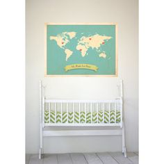 A beautiful customiseable print for a nursery. Your child will know where their roots lie. I know there would be a few stickers on my map. From Etsy
