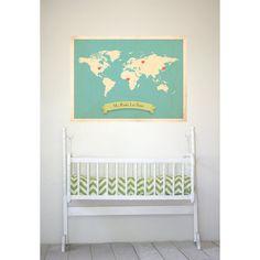 Racines du monde carte Print sur mesure 18 par KindredSolCollective, $38.00