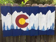 My Colorado flag sign, made of pallets
