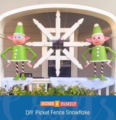 This Picket Fence Snowflake is as easy as it comes, and when it comes to holiday decorations, thats the way we like it!