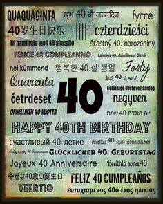 Adventures at Greenacre: Free 40th Birthday Subway art printables