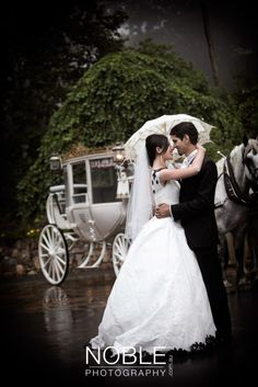 Picture from our wedding day, with the horse and carriage.