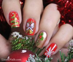 lizananails Christmas  #nail #nails #nailart