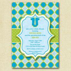 Lil Man Onesie Baby Boy Shower Invitation - PRINTABLE INVITATION DESIGN