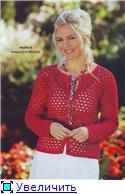 Red Cardigan free crochet graph pattern