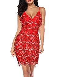 College Halloween Costume Party Dresses Online, Party Dresses For Women, Prom Party Dresses, Dress Online, Illusion Neckline Dress, Easy College Halloween Costumes, Backless Long Dress, Red Cocktail Dress, Black Prom Dresses
