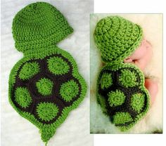 Free Crochet Pattern Turtle Photo Prop : +croshay free pattern Crochet Ninja Turtle Photo Prop ...