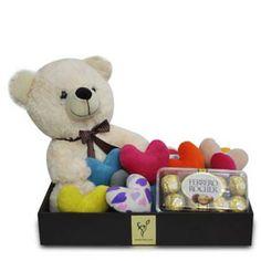 Valentines teddy bear with Chocolate