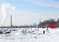 Toronto lifeguard towers converted into winter pavilions