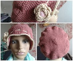 Gehäkelte Vintage Mütze