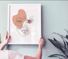 Minimal woman face line artprintable wall artfemale Portrait Paintings, Abstract Portrait, Painting Abstract, Acrylic Paintings, Art Paintings, Outline Art, Line Art Design, Minimalist Painting, Scandinavian Art
