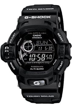 Casio G-Shock G-Force Military Concept Riseman Black G9200BW-1: Watches: Amazon.com