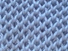 Diy Crafts - Discover thousands of images about Cómo Tejer Punto Panal-Honeycomb Brioche Stitch 2 Agujas Baby Knitting Patterns, Knitting Stiches, Knitting Videos, Crochet Videos, Loom Knitting, Crochet Stitches, Stitch Patterns, Crochet Patterns, Easy Knitting