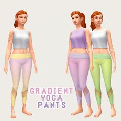 Hamburgercakes: Gradient Workout Wear • Sims 4 Downloads