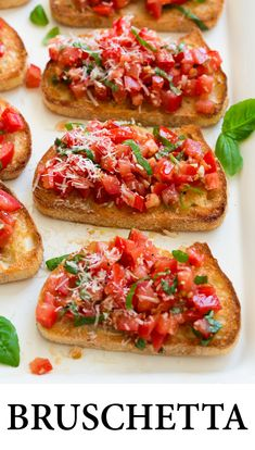 This easy recipe is a goto summer appetizer that will leave everyone satisfied and coming back for more Perfect for summer parties, weeknight dinners, or even weekend brunch! is part of Bruschetta recipe - Best Appetizer Recipes, Fun Easy Recipes, Best Appetizers, Easy Meals, Healthy Recipes, Summer Party Appetizers, Appetizers For Dinner, Italian Appetizers Easy, Appetizer Ideas