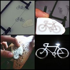 Broche Bicicleta em Prata 950 #joalheriaartesanal #handmade #feitoamão #bikelove