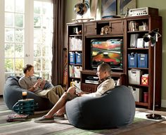 Teen/young adult boy's bedroom lounge area