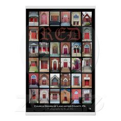 "Shop ""RED Church Doors of Lancaster County, PA"" Poster created by BAEltz. Lancaster County Pennsylvania, Christian Posters, Online Posters, Custom Posters, Custom Framing, Favorite Quotes, Reflection, Print Design, Prints"