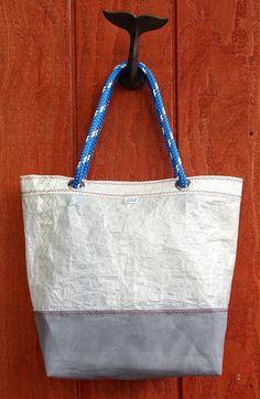 Sailcloth Kevlar J24 Sailcloth Tote Bag Waxed by ParadiseSailBags