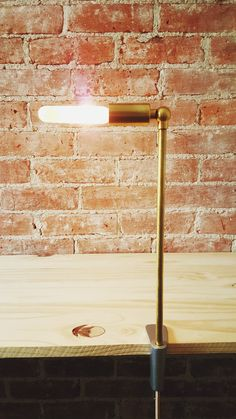 IRA TALL minimal clamp table light by uUuCo on Etsy