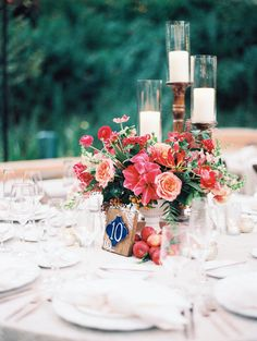 Rancho Las Lomas Featured Wedding Marina Juan Creative Spanish Inspired Table Number With Pink
