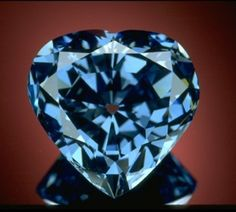 Diamond,  largest blue heart shaped diamond in the world. 30.62 carats