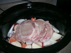 pork chops potatoes and gravy one crock pot meal!