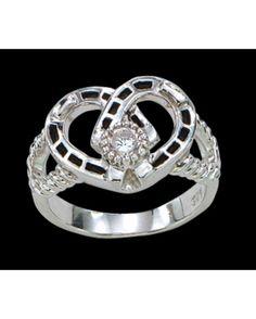 Montana Silversmiths Double Horseshoe Ring