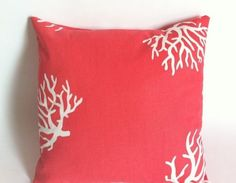 One Coral Nautical Decorative Pillow Cover for an by Pillomatic, $16.00