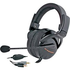 Folding Full-Size Stereophones with Vibration Circuitry and Noise Reduction Microphone  Koss HQ2 07  PRICE DROP!