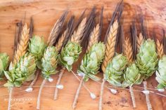 Wisconsin Wedding Photography   Marcus Center Milwaukee Wedding Photographer   Bride   Purple & Green Barley & Hops Themed Wedding   Succulents Bridal Bouquets   Fitch Gardens Weddings   Woodland Themed Wedding   Barley & Hops Groom & Groomsmen Boutonniere   @Isn't She Lovely Florals