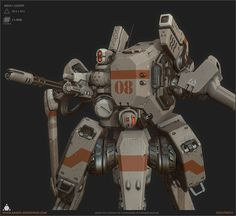 Light Scout Mech, Alexander Asmus on ArtStation #mecha – https://www.pinterest.com/pin/336714509630071261/