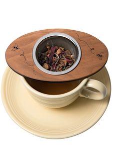 Loose Leaf Tea Strainer - Stainless Steel & Cherry - Bee Tea Nest®