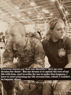 I see. That's how military wives did. It must be really tough to be married to a serving man.   After all love is sacrifice for the sake of the person you love.