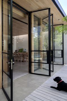 Guides to Choosing A Glass Door Design That'll Fit Your Hous.- Guides to Choosing A Glass Door Design That'll Fit Your House The Use of Glass Doors: 171 Modern Style Inspirations – Futurist Architecture - Casa Patio, Deck Patio, Backyard, Design Case, Exterior Design, Future House, Interior Architecture, Fashion Architecture, House Plans