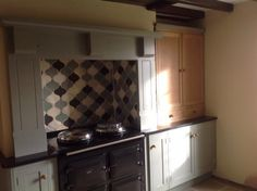 Farrow and Ball Pigeon Kitchen Units