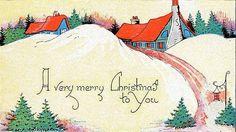 Vintage Art Deco Christmas Card 1920   Old postcards   Pinterest ...