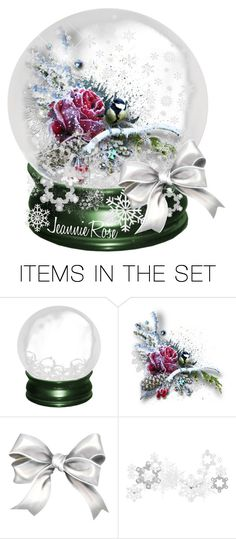 """Rose Snow Globe"" by itsablingthing ❤ liked on Polyvore featuring art"