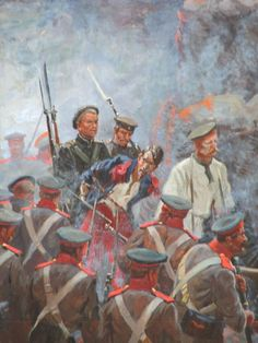 Russian troops parading a French captive during the Siege of Sevastopol, Crimean War Military Art, Military History, 28mm Miniatures, Crimean War, Japanese History, Age Of Empires, Imperial Russia, World War One, Ottoman Empire