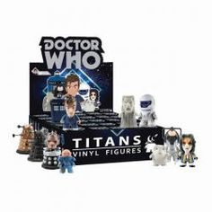 Doctor Who TITANS 10th Doctor wave debuting the 10th Doctor wave at San Diego Comic Con (one month before their August 2103 street date). 12 10th Doctor designs and 4 super-rare chase figures! Price: $10.00See more at: http://www.comic-con.org/exclusives/titan-entertainment#sthash.hMPSzU1J.dpuf