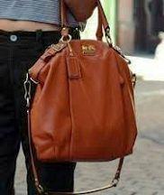 Coach Signature Carly Duffle Shoulder Hobo Bag Purse Handbag 15067 Khaki