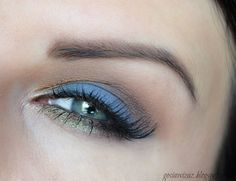 Proposal for the summer look with blue eyeshadow and nude lips. Makeup Geek Foiled Eyeshadow, Duochrome Eyeshadow, Makeup Geek Cosmetics, Blue Eyeshadow, Eyeshadow Looks, Makeup Is Life, Makeup Looks, Makeup Inspo, Makeup Inspiration