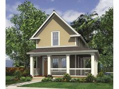 Favorite Small House Plan...just over 1000 square feet.