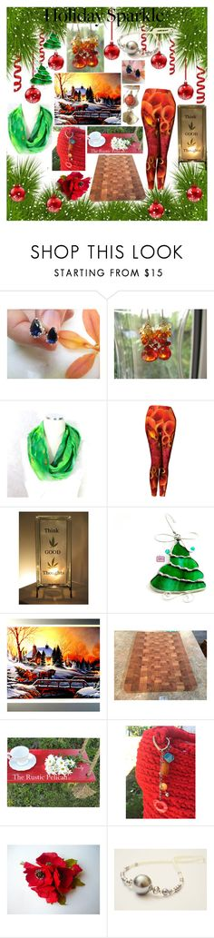 """""""Holiday Sparkle"""" by belladonnasjoy ❤ liked on Polyvore featuring modern, rustic and vintage"""