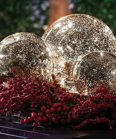 Loving this Silver Color-Changing Mercury Glass Globe Set on #zulily! #zulilyfinds