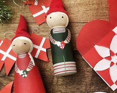 Scandinavian Nisser (Elf) Peg Dolls