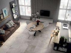 Gres Porcellanato Effetto Cemento Moderno - Quarry Sweet Home, Villa, Ivory, Patio, Flooring, Architecture, Outdoor Decor, House Ideas, Home Decor