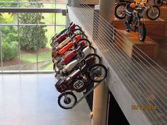 Unique way of displaying motorcycles!
